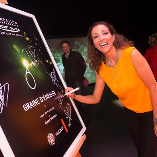 Nahiza Mestaoui - Graine d'Energie - Fondation Gdf Suez à Roland Garros
