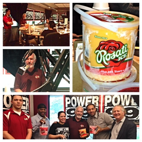 Rosati Ice visits the Morning  show team on POWER99-FM