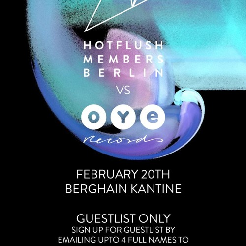 The Vandelays @ Kantine am Berghain (Hotflush Members vs OYE Records)