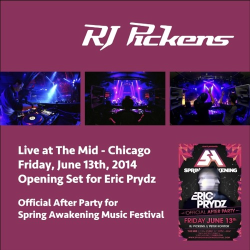 RJ Pickens - Live At The Mid Chicago - 13Jun2014 - Opening Set for Eric Prydz