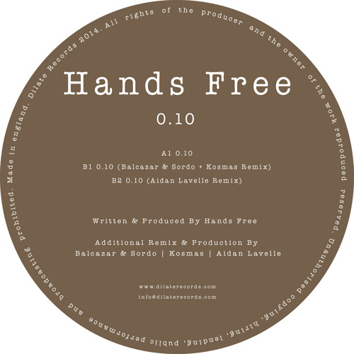 Hands Free - 0.10 (Aidan Lavelle Remix)