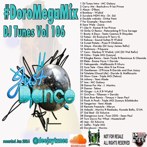 #DoroMegaMix Vol 106 Afro Mix @deejaytunes hosted by MC Galaxy
