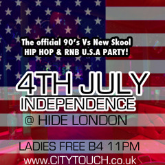 OLD SKOOL RNB 90's MIX (U.S INDEPENDENCE PARTY 4th July @ HIDE LONDON - MAYFAIR