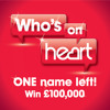 Who's On Heart - 2nd Celebrity guessed - £100,000 Jackpot to win!