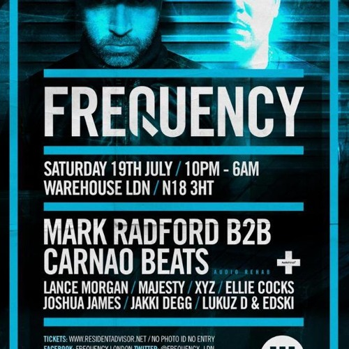 Warehouse LDN Presents Frequency 19th July 2014 Promo CD Mixed by Carnao Beats