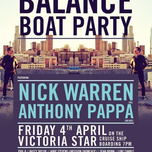 ANTHONY PAPPA Live @ Darkbeat Presents BALANCE Boat Party [Melbourne] 4th April 2014