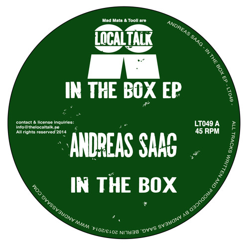 Andreas Saag - In The Box (12'' - LT049, Side A)