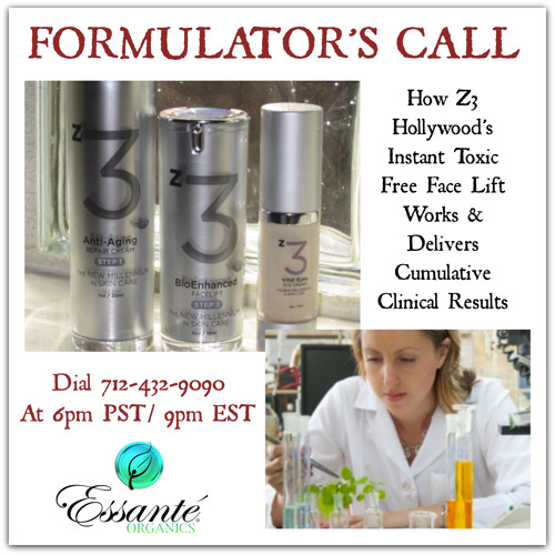 z3 Trio - Hollywood's Instant Organic Facelift Formulator's Call