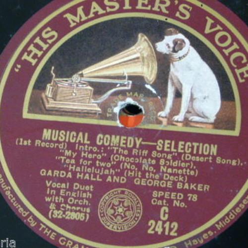 Musical Comedy Selection (George Baker and Garda Hall)