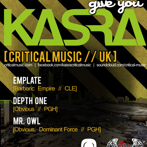 emplate - Pittsburgh D&B Collective & Obvious Productions Present Kasra (Promo Mix)