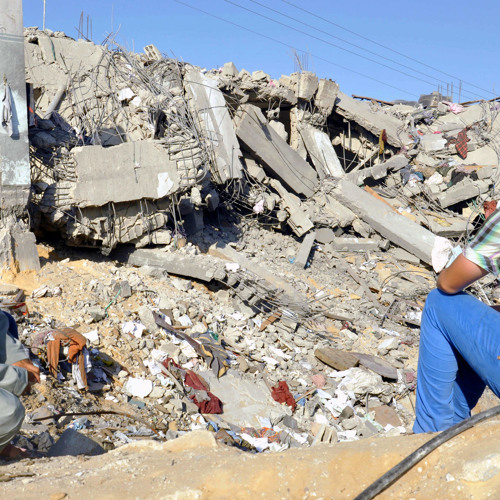 Report from Gaza: Palestinian man loses family, home in air strike
