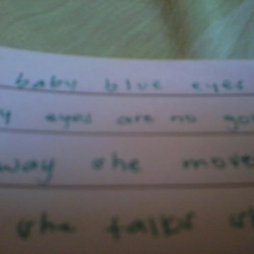 Baby blue eyes. Guitarist: Jade Ann Chloe =)))