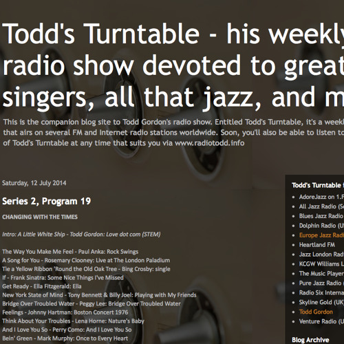Sample editions of Todd's Turntable