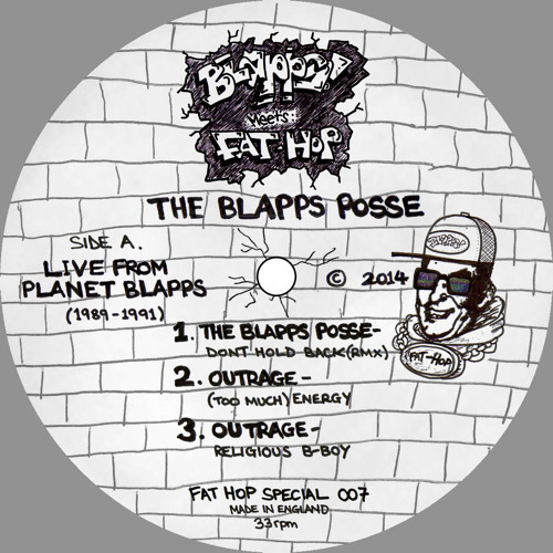 """The Blapps Posse - Live From Planet Blapps [1989-1991] Fat Hop Special 007 12"""""""