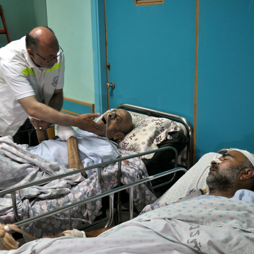Israel bombs al-Wafa hospital
