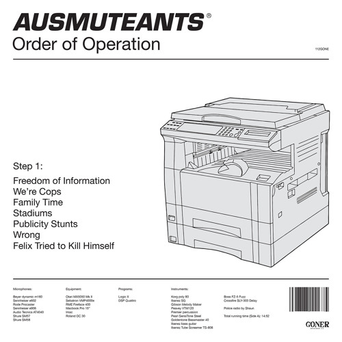 "Ausmuteants ""Freedom Of Information"" // 'Order Of Operation' Out Now On Goner Records"