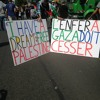 Hoide, 73 ans  manifestante, interrogée avant la charge de la police