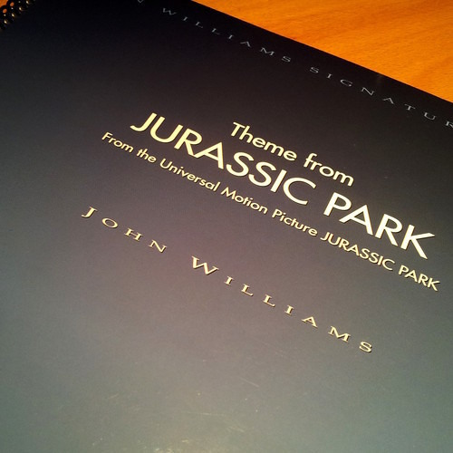 Jurassic Park (1st version): Played by Sibelius notation software