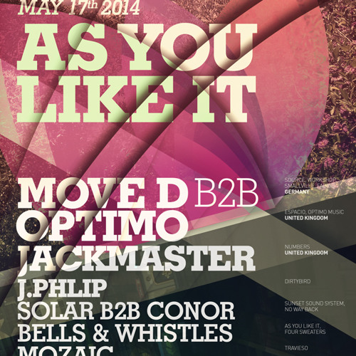 Move D B2B Optimo at As You Like It 05.17.14