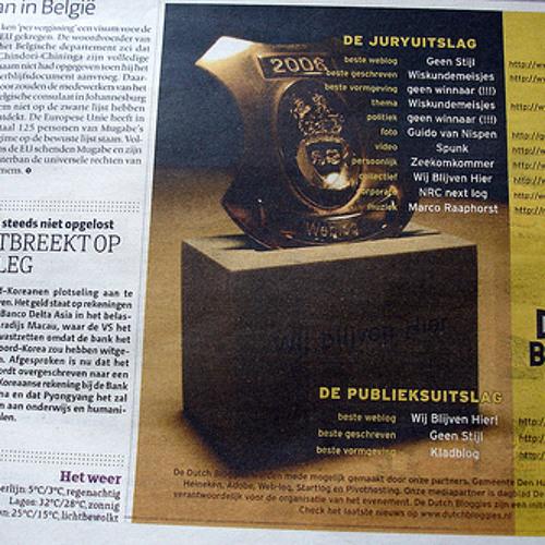 Radio Online uitslag Dutch Bloggies 2007