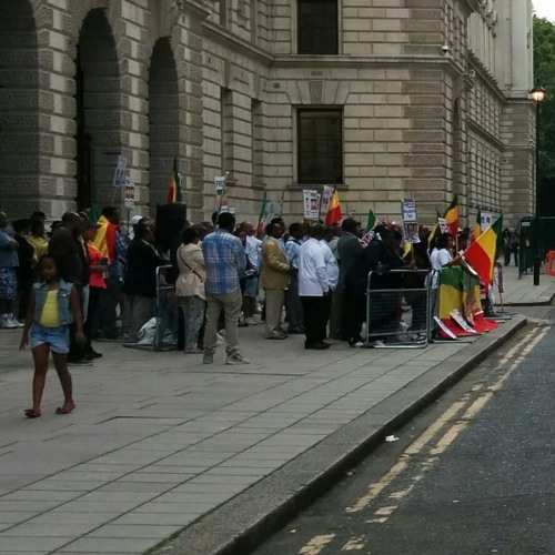 Protest at London