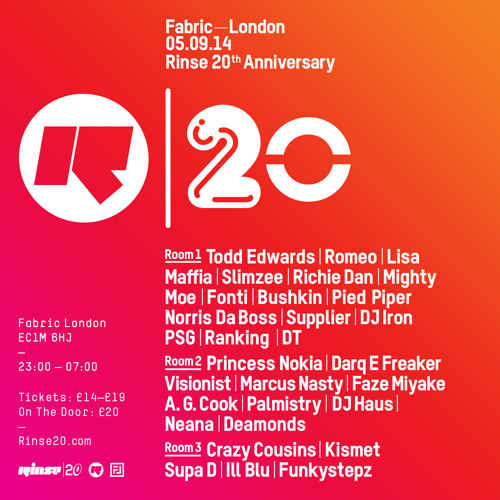 Rinse FM Podcast - Kismet - 9th August 2014