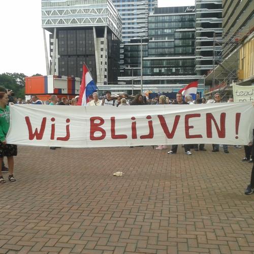 Reporter Vinny bij de anti-Isis demonstratie in de Haagse Schilderswijk