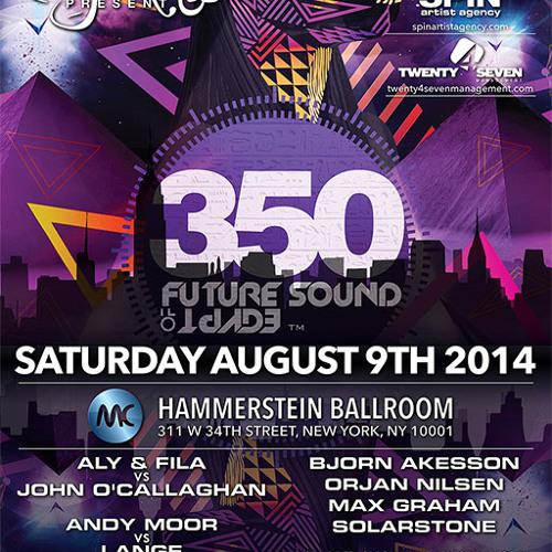 Arctic Moon b2b Bryan Kearney #FSOE350NYC at Hammerstein Ballroom Sat Aug 9 2014