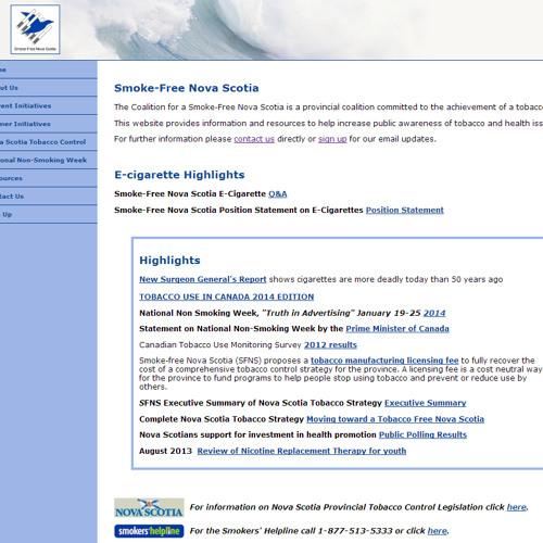 Smoke Free Nova Scotia Launches Online Registry