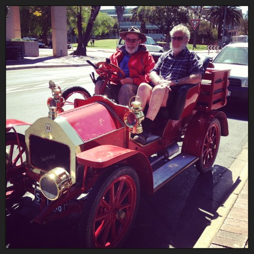 Vintage cars are in Alice Springs