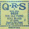 The Old Piano Roll Blues (QRS 8626)