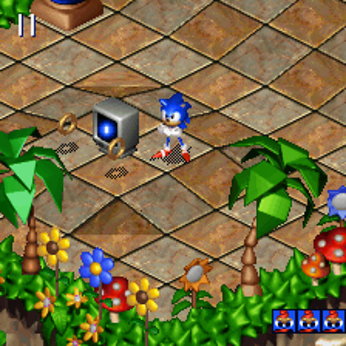 Sonic 3D Blast (Saturn) - Green Grove Zone - Act 1 [Sega