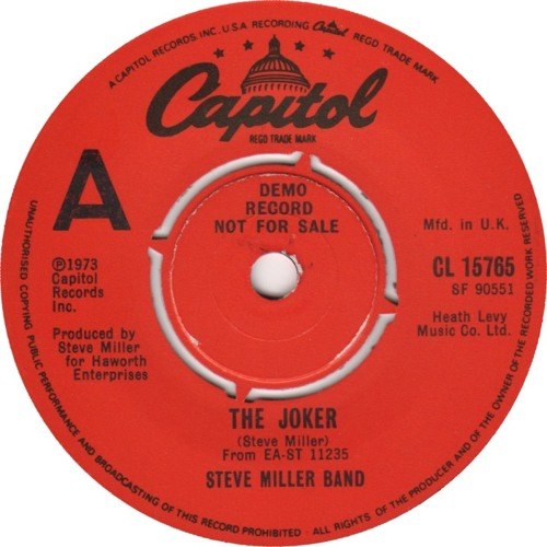 """Steve Miller Band 'The Joker' (Serge Gamesbourg """"Gangsta Of Love"""" Remix)"""