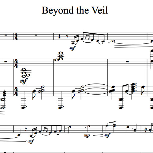 Beyond The Veil Piano Accompaniment Sample By LS Sheet