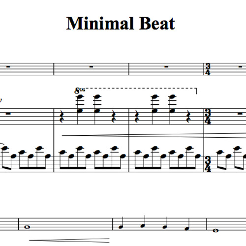 Minimal Beat Piano Accompaniment Sample By LS Sheet Music
