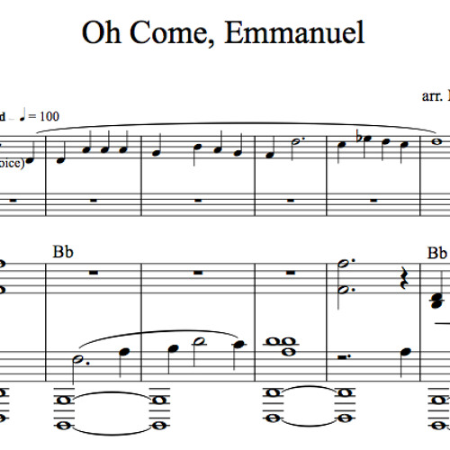 Oh Come Emmanuel Piano Accompaniment Sample By Lindsey