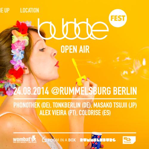 Masako Tsujii - 'bubblefest' Open Air @ Rummelsburg Berlin - Aug.2014