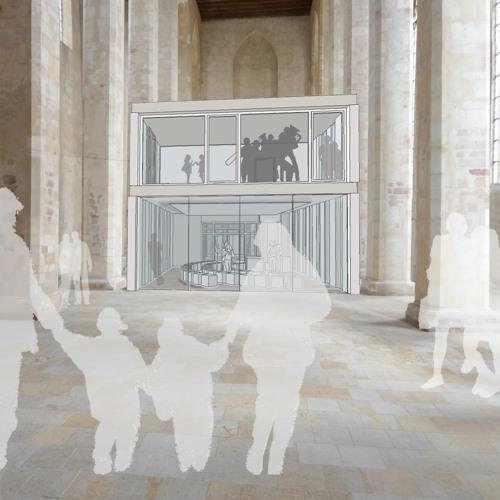 Ein Haus im Haus - kuehne Loesung für ein neues Gemeindezentrum in der Magdeburger Wallonerkirche