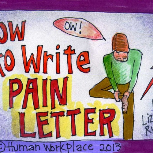 how to write a pain letter