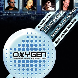 Luis Pitti,Carlos Kinn,Alex Roqué,To One Hundred,Chus & Oliver @ Oxygen House Club ( 21 - 08 - 14)