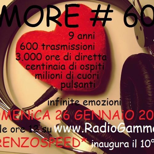 LORENZOSPEED present AMORE # 600 26/01/2014 with MATTiA Z, QuakePc, Vale Scorpy, Dj Albert