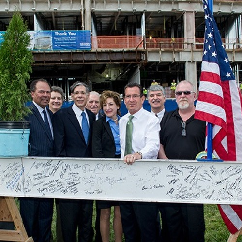 WTIC: Malloy Tops Off Hospital Tower