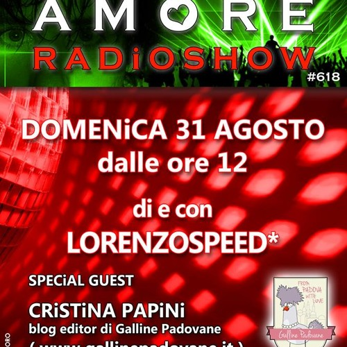 LORENZOSPEED present AMORE # 618 31/08/2014 with Cristina Papini from GallinePadovane.it part 1