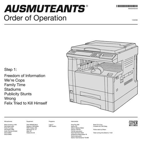 """Ausmuteants """"Boiling Point"""" // 'Order Of Operation' Out Now On Goner Records"""