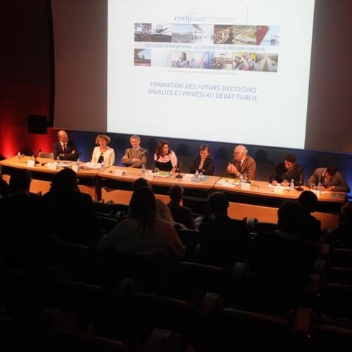 """Colloque - CNDP 2014 - Table Ronde 5 - """"Formation des futurs décideurs au débat public"""""""