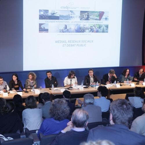 """Colloque CNDP 2014 - Table ronde 3 - """"Médias, réseaux sociaux et débat public"""""""