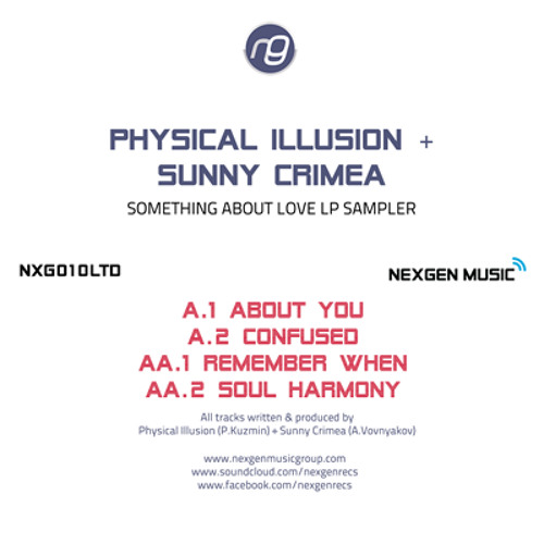 "Physical Illusion & Sunny Crimea  -  Something about love LP (Nexgen Music) 12"" Vinyl OUT NOW!!!"