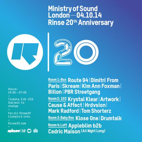 Rinse FM Podcast - Daniel Avery & Ivan Smagghe - 22nd September 2014