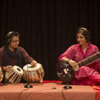 Birdsong and music composition by Rishii Chowdhury (tabla) and Roopa Panesar (sitar), 2014