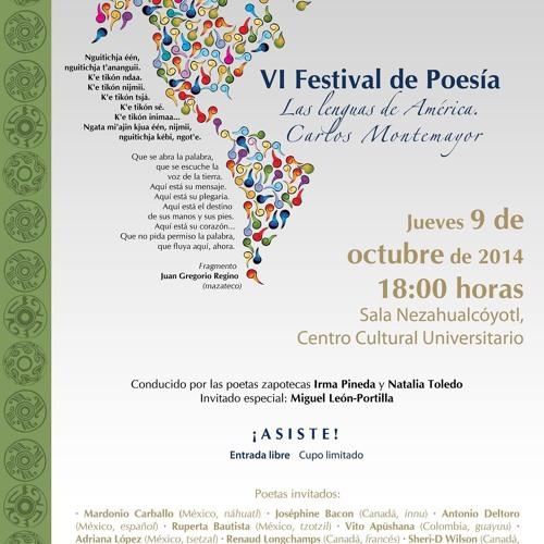 VI FESTIVAL DE POESÍA LAS LENGUAS DE AMÉRICA CARLOS MONTEMAYOR, NATALIA TOLEDO 1